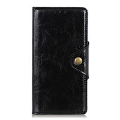 HTC Desire 19 Plus用手帳型 レザーケース スタンド カバー L03 HTC ブラック