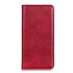 HTC Desire 19 Plus用手帳型 レザーケース スタンド カバー L04 HTC レッド