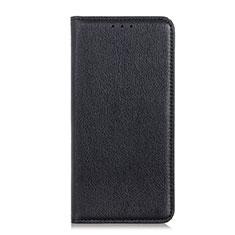 HTC Desire 19 Plus用手帳型 レザーケース スタンド カバー L04 HTC ブラック