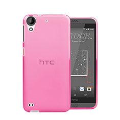 HTC Desire 530用極薄ソフトケース シリコンケース 耐衝撃 全面保護 クリア透明 HTC ピンク
