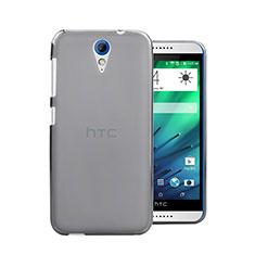 HTC Desire 620用極薄ケース クリア透明 プラスチック HTC グレー