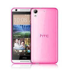 HTC Desire 626用極薄ソフトケース シリコンケース 耐衝撃 全面保護 クリア透明 HTC ピンク