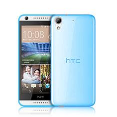 HTC Desire 626用極薄ソフトケース シリコンケース 耐衝撃 全面保護 クリア透明 HTC ネイビー