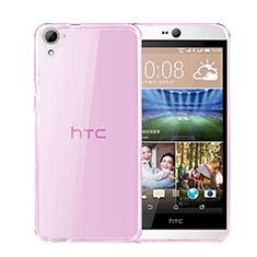 HTC Desire 826 826T 826W用極薄ソフトケース シリコンケース 耐衝撃 全面保護 クリア透明 HTC ピンク