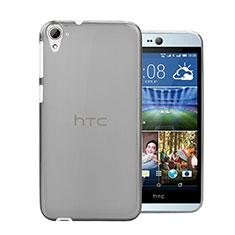 HTC Desire 826 826T 826W用極薄ソフトケース シリコンケース 耐衝撃 全面保護 クリア透明 HTC グレー