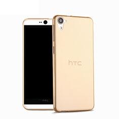 HTC Desire 826 826T 826W用極薄ソフトケース シリコンケース 耐衝撃 全面保護 クリア透明 HTC ゴールド