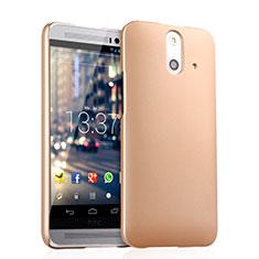 HTC One E8用ハードケース プラスチック 質感もマット HTC ゴールド