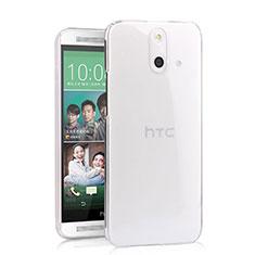 HTC One E8用ハードケース クリスタル クリア透明 HTC クリア