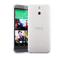 HTC One E8用極薄ソフトケース シリコンケース 耐衝撃 全面保護 クリア透明 HTC クリア
