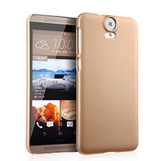 HTC One E9 Plus用ハードケース プラスチック 質感もマット HTC ゴールド
