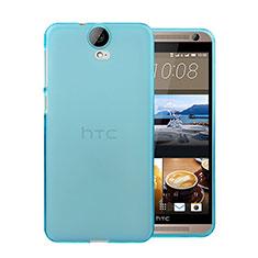 HTC One E9 Plus用極薄ソフトケース シリコンケース 耐衝撃 全面保護 クリア透明 HTC ネイビー