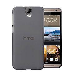 HTC One E9 Plus用極薄ソフトケース シリコンケース 耐衝撃 全面保護 クリア透明 HTC グレー