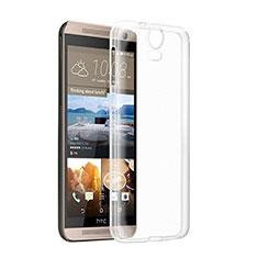 HTC One E9 Plus用極薄ソフトケース シリコンケース 耐衝撃 全面保護 クリア透明 HTC クリア