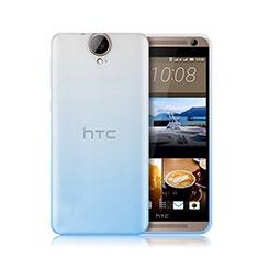 HTC One E9 Plus用極薄ソフトケース グラデーション 勾配色 クリア透明 HTC ネイビー