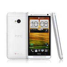 HTC One M7用極薄ケース クリア透明 プラスチック HTC ホワイト