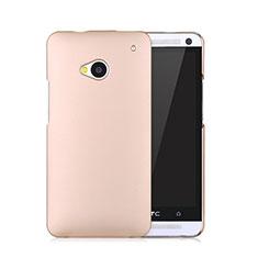 HTC One M7用ハードケース プラスチック 質感もマット HTC ゴールド