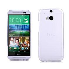HTC One M8用極薄ソフトケース シリコンケース 耐衝撃 全面保護 クリア透明 HTC ホワイト