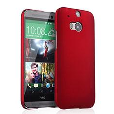 HTC One M8用ハードケース プラスチック 質感もマット HTC レッド