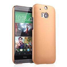 HTC One M8用ハードケース プラスチック 質感もマット HTC ゴールド