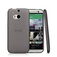 HTC One M8用極薄ソフトケース シリコンケース 耐衝撃 全面保護 クリア透明 T01 HTC ブラック