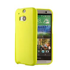 HTC One M8用シリコンケース ソフトタッチラバー HTC グリーン