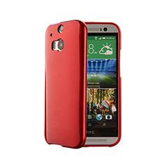 HTC One M8用シリコンケース ソフトタッチラバー HTC レッド