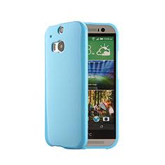 HTC One M8用シリコンケース ソフトタッチラバー HTC ネイビー