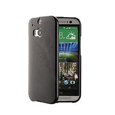 HTC One M8用シリコンケース ソフトタッチラバー HTC ブラック