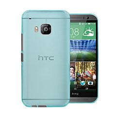 HTC One M9用極薄ケース クリア透明 プラスチック HTC ブルー