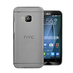 HTC One M9用極薄ケース クリア透明 プラスチック HTC グレー