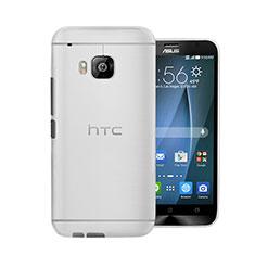 HTC One M9用極薄ケース クリア透明 プラスチック HTC ホワイト