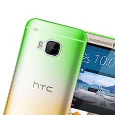 HTC One M9用極薄ソフトケース グラデーション 勾配色 クリア透明 HTC グリーン