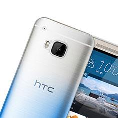 HTC One M9用極薄ソフトケース グラデーション 勾配色 クリア透明 HTC ネイビー