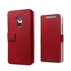 HTC One Max用手帳型 レザーケース HTC レッド