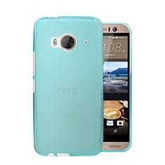 HTC One Me用極薄ケース クリア透明 プラスチック HTC ブルー