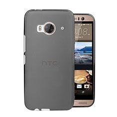 HTC One Me用極薄ケース クリア透明 プラスチック HTC グレー