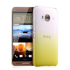 HTC One Me用ハードケース グラデーション 勾配色 クリア透明 HTC イエロー