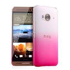 HTC One Me用ハードケース グラデーション 勾配色 クリア透明 HTC ピンク