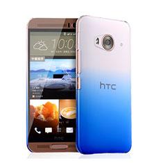 HTC One Me用ハードケース グラデーション 勾配色 クリア透明 HTC ネイビー