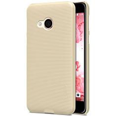 HTC U Play用ハードケース プラスチック 質感もマット HTC ゴールド