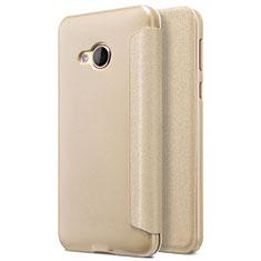 HTC U Play用手帳型 レザーケース スタンド HTC ゴールド