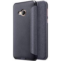 HTC U Play用手帳型 レザーケース スタンド HTC ブラック
