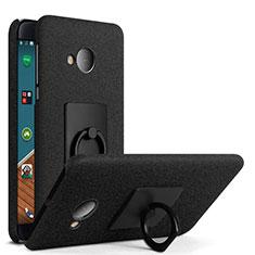 HTC U Play用ハードケース カバー プラスチック アンド指輪 HTC ブラック