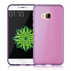 HTC U Play用極薄ソフトケース シリコンケース 耐衝撃 全面保護 クリア透明 カバー HTC ピンク