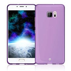 HTC U Ultra用極薄ソフトケース シリコンケース 耐衝撃 全面保護 クリア透明 HTC ピンク