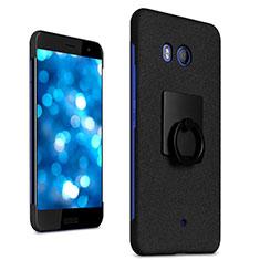 HTC U11用ハードケース カバー プラスチック アンド指輪 HTC ブラック