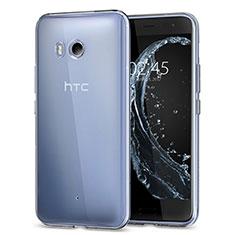 HTC U11用極薄ソフトケース シリコンケース 耐衝撃 全面保護 クリア透明 カバー HTC クリア