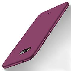 HTC U11用シリコンケース ソフトタッチラバー HTC パープル