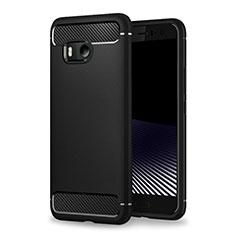 HTC U11用シリコンケース ソフトタッチラバー カバー HTC ブラック
