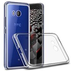 HTC U11用極薄ソフトケース シリコンケース 耐衝撃 全面保護 クリア透明 T02 HTC クリア